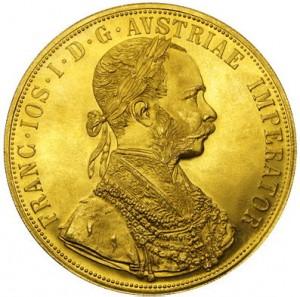4 Dukát Františka Josefa I. 1915 (novoražba)