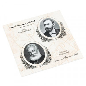 Plechová etue na čtyři stříbrné mince série Géniové 19. stol.