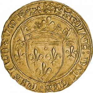 "Zlatá mince ""Charles VII 1 Écu d´Or"""