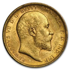 Zlatá mince Sovereign Edward VII BU 1902-1910-M Austrálie