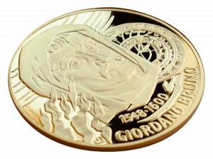 Zlatá mince Giordano Bruno 2 oz Proof-like