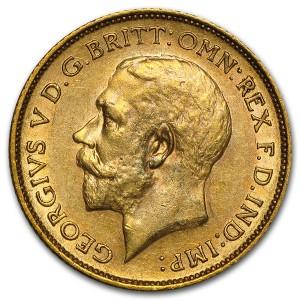 Zlatá mince Sovereign George V BU 1911-1931-M Austrálie