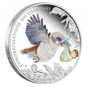 Stříbrná mince Gratulace novorozenci 1/2 oz proof 2017