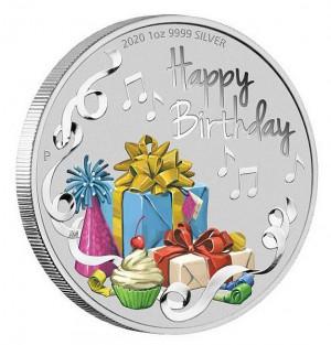 Stříbrná mince k narozeninám 1 oz proof 2020