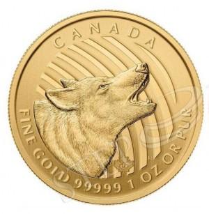 Zlatá mince Vyjící vlk 1 oz