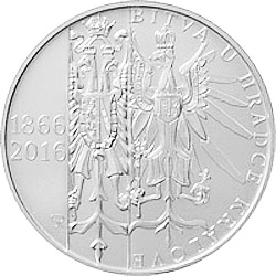 Stříbrná mince 150. výročí bitvy u Hradce Králové b.k.