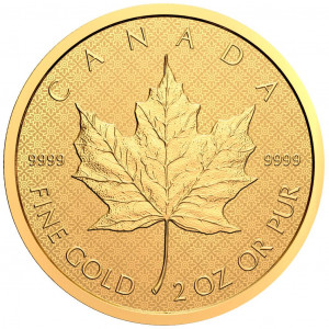 Zlatá mince Maple Leaf 2 oz reverse proof 2021