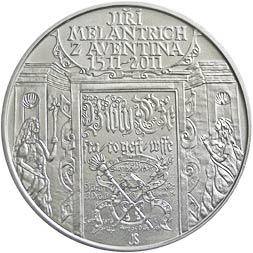 Stříbrná mince Jiří Melantrich z Aventina b.k.