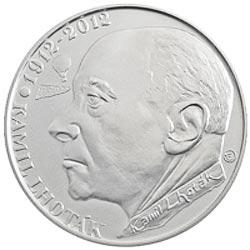 Stříbrná mince 100. výročí narození Kamila Lhotáka b.k.