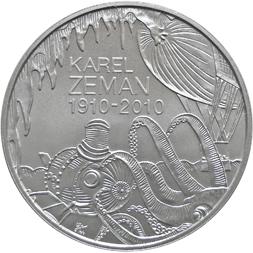 Stříbrná mince 100. výročí narození Karla Zemana b.k.