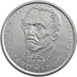 Stříbrná mince Karel Jaromir Erben b.k.
