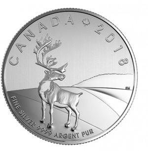 Stříbrná mince Caribou 1/4 oz
