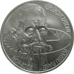 Stříbrná mince Keplerovy zákony pohybu planet b.k.