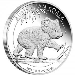 Stříbrná mince Koala 1 kg 2016 proof