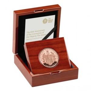 Zlatá mince Královna Alžběta II. 65. výročí korunovace 1 oz proof 2018