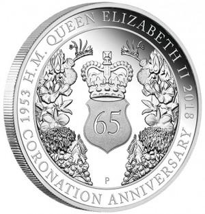 Stříbrná mince 65. výročí korunovace Jejího Veličenstva královny Alžběty II. 1 oz