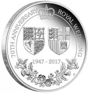 Stříbrná mince Výročí královské svatby 1 oz proof