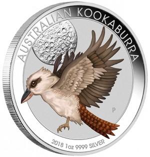 Stříbrná mince Kookaburra 1 oz kolor