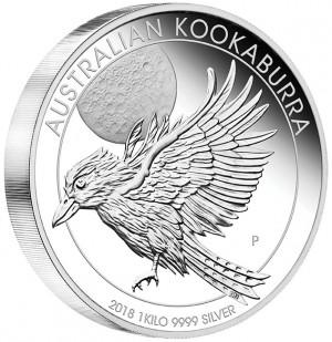 Stříbrná mince Kookaburra 1 kg Proof 2018