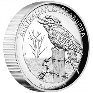 Stříbrná mince Australský kookaburra 1 oz proof vysoký reliéf