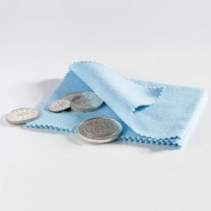 Leštící látka na mince - modrá