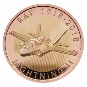 Zlatá mince Lightning RAF 1/2 oz 2018