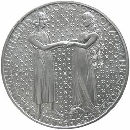 Stříbrná mince Sňatek Jana Lucemburskeho b.k.
