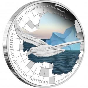 Stříbrná mince Albatros stěhovavý 1 oz proof kolor 2014