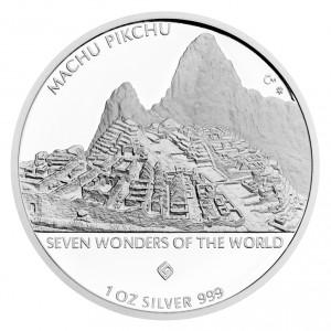 Stříbrná mince Machu Pikchu 1 oz proof 2016