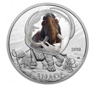 Stříbrná mince Woolly Mammoth 1 oz