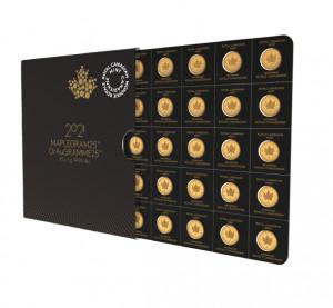 Zlatá mince Maple Leaf - Maplegram25™