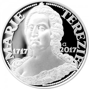 Stříbrná mince Marie Terezie 300. výročí narození b.k.