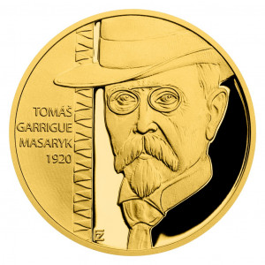 Zlatá mince Rok 1920 - Prezident T. G. Masaryk 1/4 oz proof