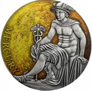 Stříbrná mince Merkur 3 oz antique finish 2019