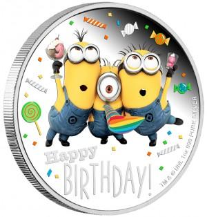 Stříbrná mince Mimoni Narozeniny 1 oz proof 2019