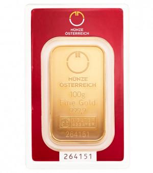 Zlatý investiční slitek 100 g Münze Österreich