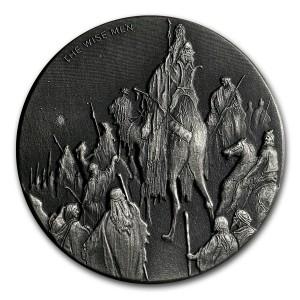 Stříbrná mince Biblická série Mudrci 2 oz 2017