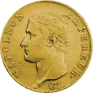 Mince 20 Frank Napoleon 1809-1814 - zlato