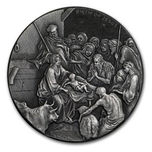 Stříbrná mince Biblická série Narození Ježíše 2 oz 2016