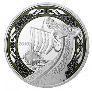Stříbrná mince Vikingské lodě: Northern Fury 1 oz 2018