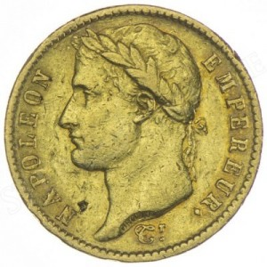 Zlatá mince 20 Frank Napoleon Bonaparte (1809-1814)
