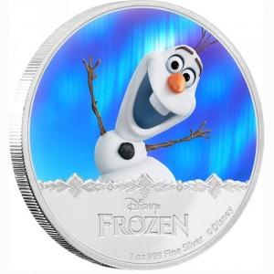 Stříbrná mince Disney Frozen Olaf 1 oz