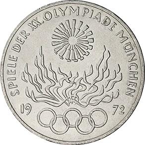 Sada stříbrných mincí Olympijské hry 1972
