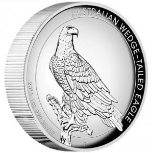 Stříbrná mince Orel klínoocasý 1 oz vysoký reliéf 2016
