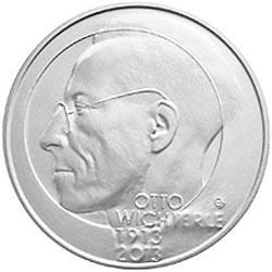 Stříbrná mince 100. výročí narození Otty Wichterleho b.k.