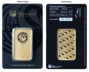Zlatý investiční slitek 1 oz Perth Mint