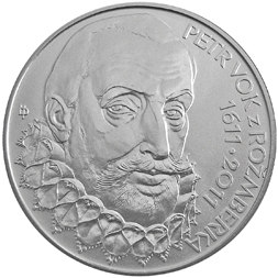 Stříbrná mince Petr Vok z Rožmberka b.k.