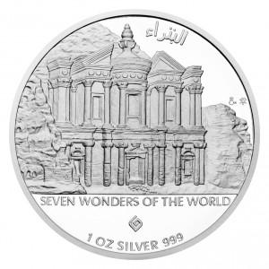 Stříbrná mince Petra 1 oz proof 2017