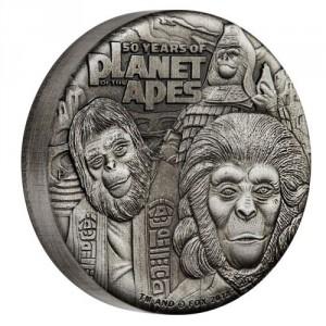 Stříbrná mince Planeta Opic 2 oz antique finish