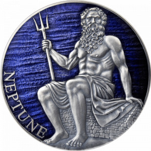 Stříbrná mince Neptun 3 oz antique finish 2021